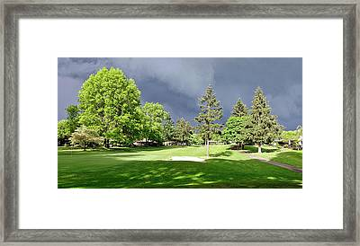 Bright Light And Dark Clouds Framed Print by Beth Wolff