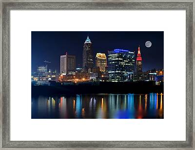 Bright Lights City Nights Framed Print by Frozen in Time Fine Art Photography
