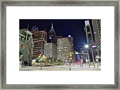 Bright Lights In Philly Framed Print