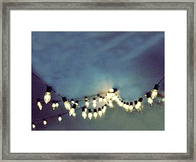 Framed Print featuring the photograph Bright Lights by Rebecca Cozart