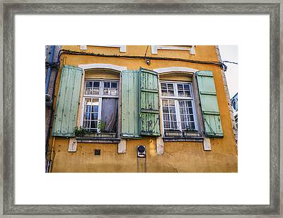 Bright Mediterranean Windows Framed Print