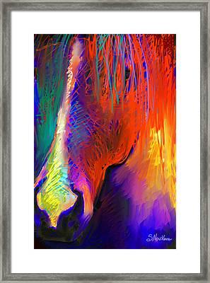 Bright Mustang Horse Framed Print by Svetlana Novikova