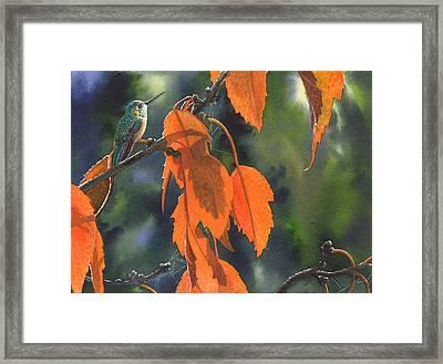 Bright Orange Leaves Framed Print
