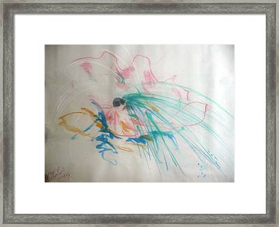 Bright Oyster With A Pearl Framed Print by Tami Epstein