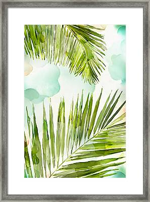 Bright Palm Framed Print by Mauro DeVereaux