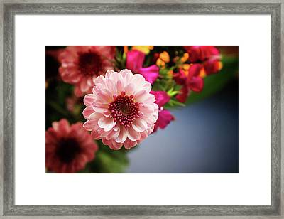 Bright Pink Floral 2- Art By Linda Woods Framed Print