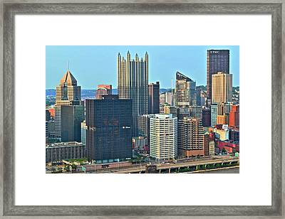 Bright Pittsburgh Day Framed Print by Frozen in Time Fine Art Photography