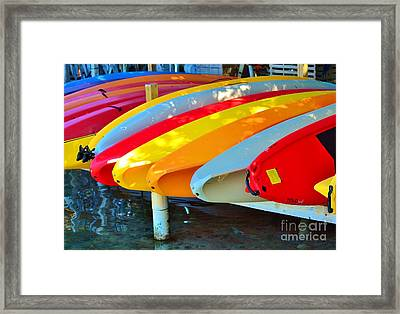 Bright Rack  Framed Print by Rene Triay Photography