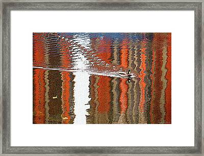 Bright Reflections Of Autumn On The River Framed Print