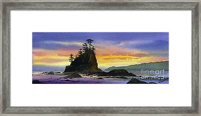 Bright Seacoast Sunset Framed Print by James Williamson