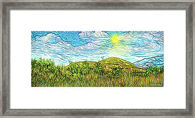 Bright Sky Summer - Field In Boulder County Colorado Framed Print