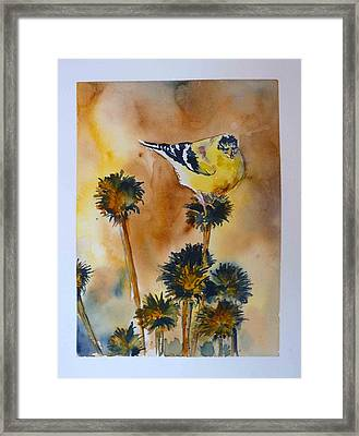Framed Print featuring the painting Bright Spot In Winter by P Maure Bausch