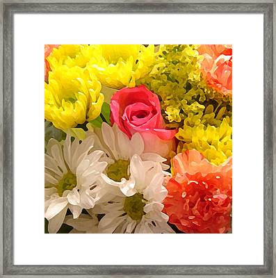 Bright Spring Flowers Framed Print by Amy Vangsgard