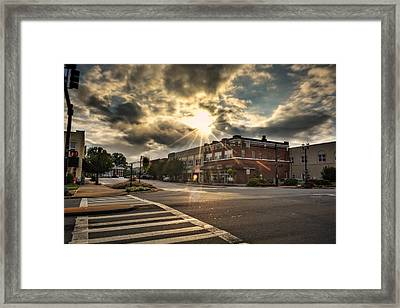Bright Sun In Murphy North Carolina Framed Print