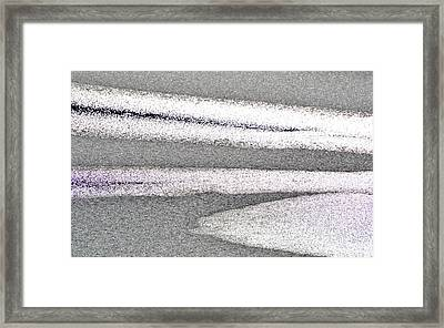 Bright Sun On The Ice  Framed Print by Lyle Crump