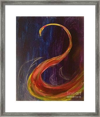 Bright Swan Framed Print