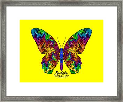 Framed Print featuring the digital art Bright Transformation by Barbara Tristan