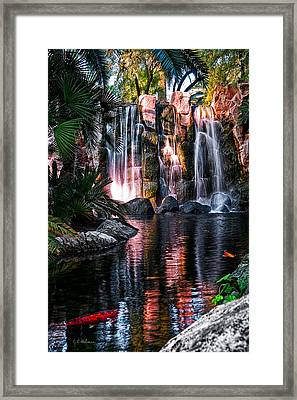 Bright Waterfalls Framed Print