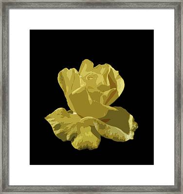 Framed Print featuring the photograph Bright Yellow Beauty by Laurel Powell
