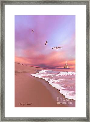 Brighten Beach Framed Print by Corey Ford