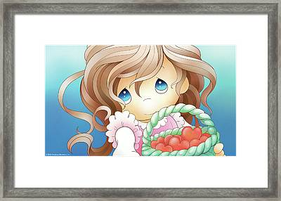 Brighten Someone's Day Framed Print by Precious Moments