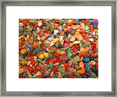Brighter Stones Framed Print