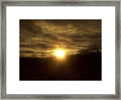 Brightly Dust Framed Print