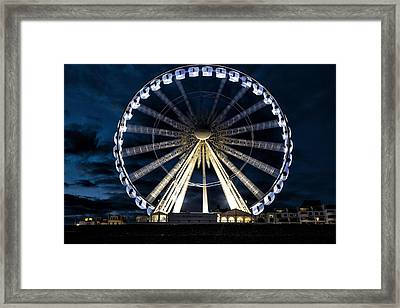 Brighton At Night Framed Print