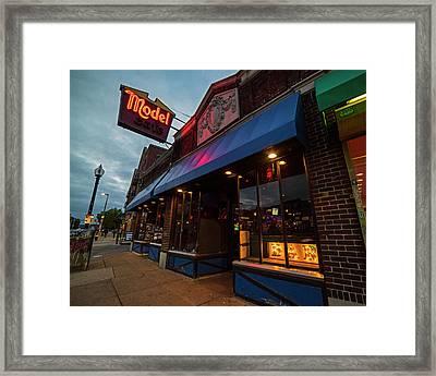 Brighton Ave Packard's Corner Allston Ma Model Cafe Framed Print