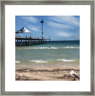 brighton Beach Framed Print by Anthony Christou