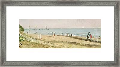 Brighton Beach   Detail Framed Print