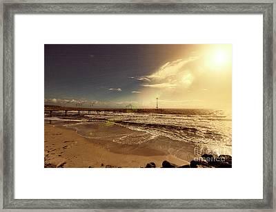Framed Print featuring the photograph Brighton Beach Pier by Douglas Barnard