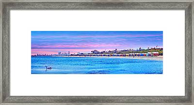 Brighton Beach Sunset Framed Print