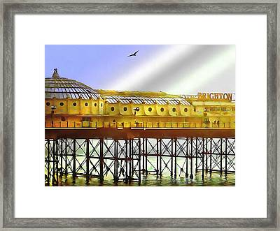 Brighton By The Sea Framed Print by Dorothy Berry-Lound