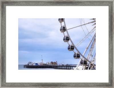 Brighton Pier Framed Print by Joana Kruse