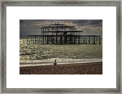 Brighton Pier Framed Print by Martin Newman