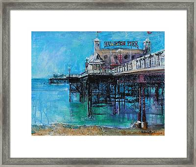 Brighton Pier Framed Print by Sylvia Paul