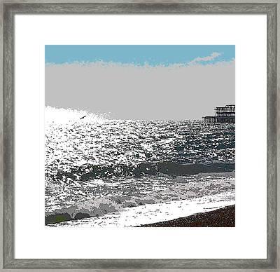 Brighton West Peer Framed Print
