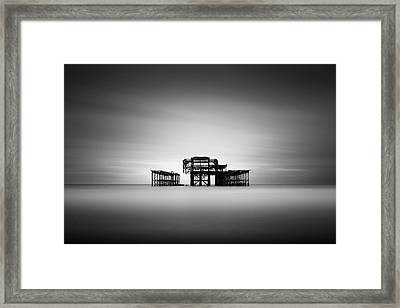 Brighton West Pier Framed Print by Ivo Kerssemakers