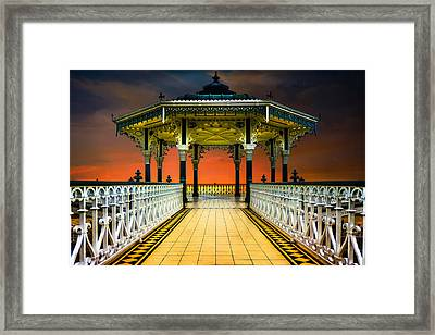 Framed Print featuring the photograph Brighton's Promenade Bandstand by Chris Lord