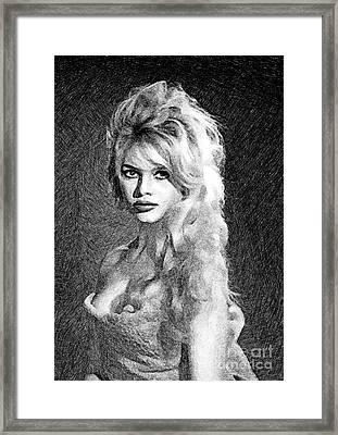 Brigitte Bardot, Actress By Js Framed Print