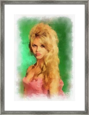 Brigitte Bardot By John Springfield Framed Print