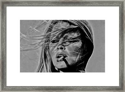 Brigitte Bardot Collection Framed Print by Marvin Blaine