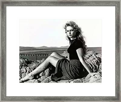 Brigitte Bardot, Cote D Azur Framed Print
