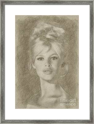 Brigitte Bardot Hollywood Actress Framed Print by Frank Falcon