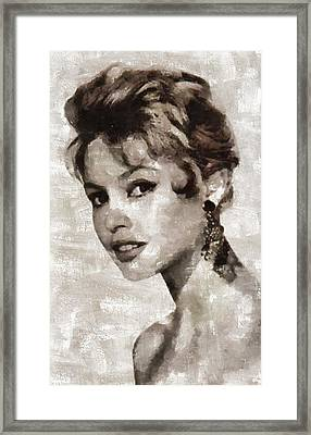 Brigitte Bardot Hollywood Actress Framed Print by Mary Bassett