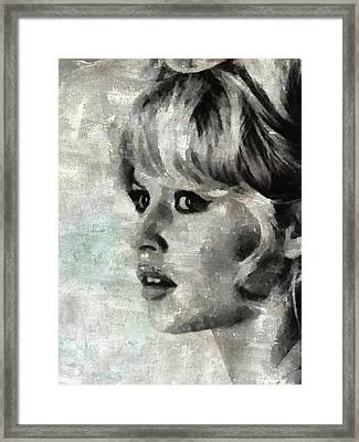 Brigitte Bardot Hollywood Icon By Mary Bassett Framed Print