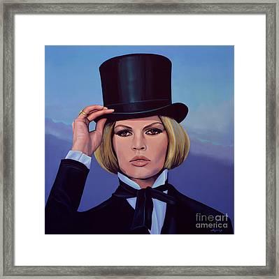 Brigitte Bardot Painting 2 Framed Print