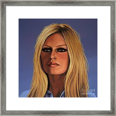 Brigitte Bardot Painting 3 Framed Print