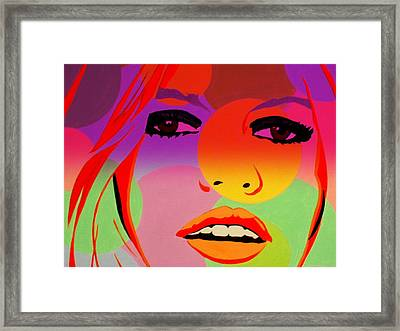 Brigitte Bardot ... Young  Framed Print by Funkpix Photo Hunter